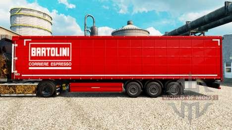 La peau Bartolini sur semi pour Euro Truck Simulator 2