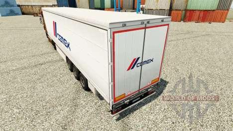 Haut Cemex Trailern für Euro Truck Simulator 2