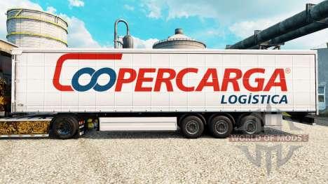 La peau Coopercarga pour les remorques pour Euro Truck Simulator 2