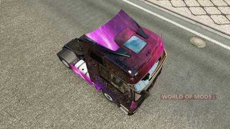 Haut Weltall auf die Sattelzugmaschine Mercedes- für Euro Truck Simulator 2