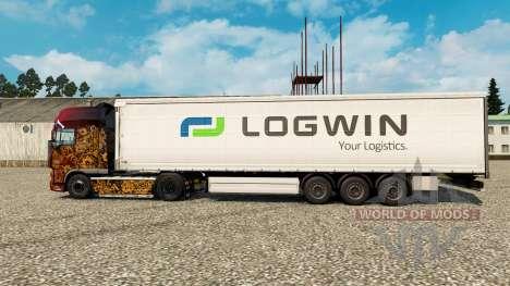 Logwin de la peau pour les remorques pour Euro Truck Simulator 2