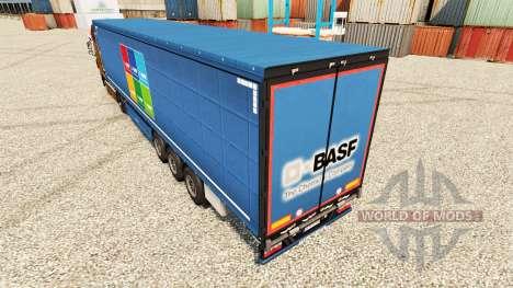 La peau BASF Societas Europaea sur semi pour Euro Truck Simulator 2