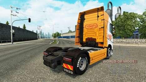TNT skin für Volvo-LKW für Euro Truck Simulator 2