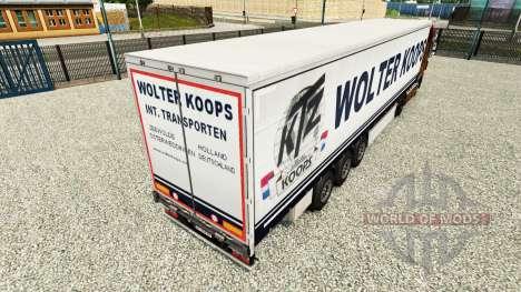 Wolter Koops Haut für Vorhangfassaden semi-trail für Euro Truck Simulator 2