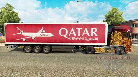Qatar Airways de la peau pour les remorques pour Euro Truck Simulator 2