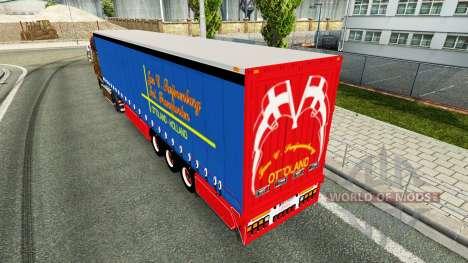 Côté de rideau semi-remorque janvier Swijnenburg pour Euro Truck Simulator 2