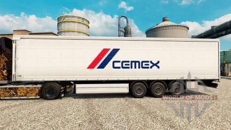 La peau Cemex pour les remorques pour Euro Truck Simulator 2