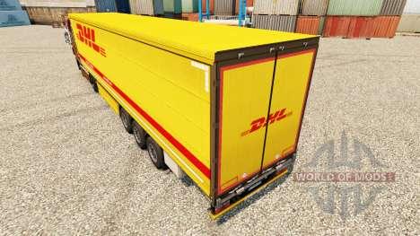 DHL v3 skin für Trailer für Euro Truck Simulator 2