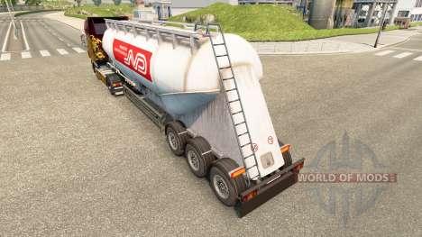 La peau Norbert ciment semi-remorque pour Euro Truck Simulator 2