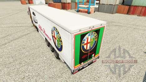 Alfa Romeo Haut für Anhänger für Euro Truck Simulator 2