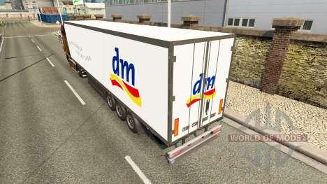 Semitrailer refrigerator Schmitz DM Pharmacie pour Euro Truck Simulator 2