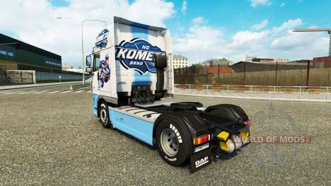 Haut-HC Kometa Brünn am Traktor DAF für Euro Truck Simulator 2