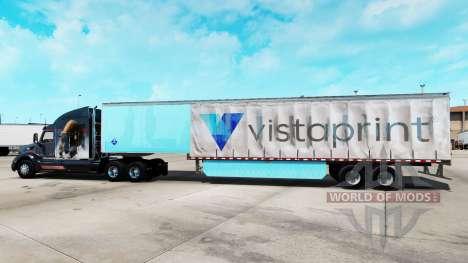 La peau Vistaprint sur un rideau semi-remorque pour American Truck Simulator