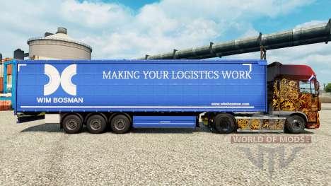 Wim Bosman de la peau pour les remorques pour Euro Truck Simulator 2