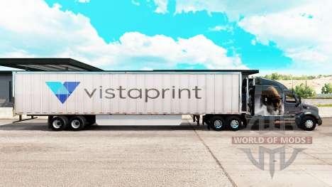 Haut Vistaprint extended trailer für American Truck Simulator