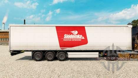 La peau Siodemka sur un rideau semi-remorque pour Euro Truck Simulator 2