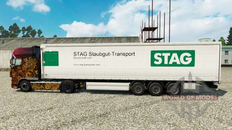 Haut Stag Staubgut-Transport auf semi-Trailern für Euro Truck Simulator 2