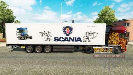 La peau Scania pour les remorques pour Euro Truck Simulator 2