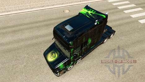 Monster Energy de la peau pour le Scania T tract pour Euro Truck Simulator 2