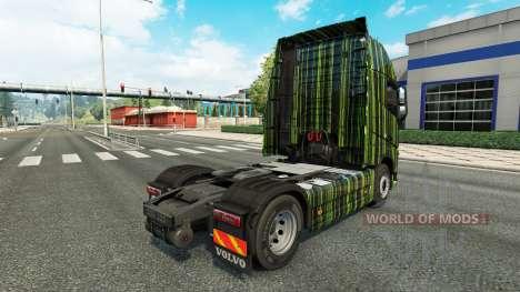 Grüne Streifen Haut für Volvo-LKW für Euro Truck Simulator 2