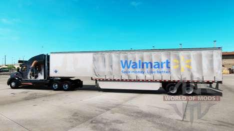 Haut Walmart auf einen Vorhang semi-trailer für American Truck Simulator