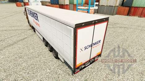 La peau Schenker Logistics pour les remorques pour Euro Truck Simulator 2