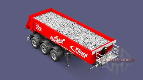 Semi-trailer tipper Fliegl Schmitz Red Power für Euro Truck Simulator 2