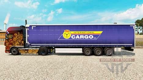 La peau PKS Fret International S. A. sur la remo pour Euro Truck Simulator 2