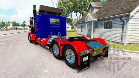 Optimus Prime peau pour le camion Peterbilt 389 pour American Truck Simulator
