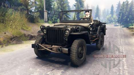Jeep Willys MB 1942 für Spin Tires