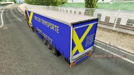 Carlson Transporte de la peau pour les remorques pour Euro Truck Simulator 2