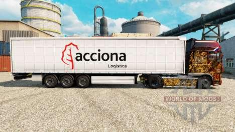 La peau Acciona pour les remorques pour Euro Truck Simulator 2