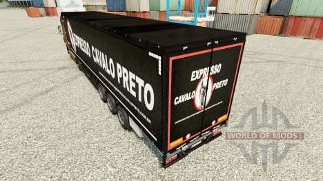 Haut Expresso Cavalho Preto in der semi für Euro Truck Simulator 2