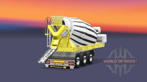 Semi-remorque bétonnière pour Euro Truck Simulator 2