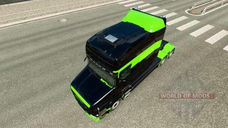 La peau Noir-vert-pour camion Scania T pour Euro Truck Simulator 2