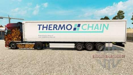 La peau Thermo Chaîne sur un rideau semi-remorqu pour Euro Truck Simulator 2