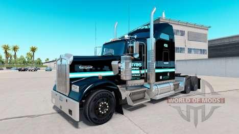 La peau Ervins de Transport sur camion Kenworth  pour American Truck Simulator