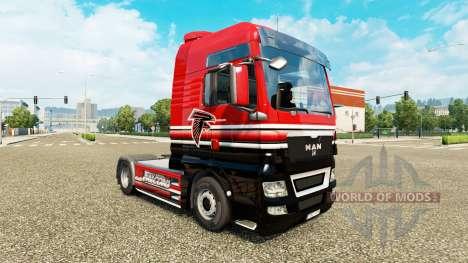 La peau de la NFC Sud pour le tracteur HOMME pour Euro Truck Simulator 2