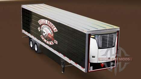 Haut Hells Angels auf gekühlten Auflieger für American Truck Simulator