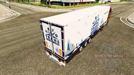Semitrailer refrigerator Schmitz Trio Trans für Euro Truck Simulator 2