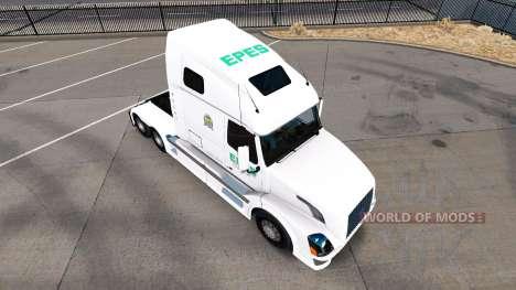 Epes Transport skin für den Volvo truck VNL 670 für American Truck Simulator