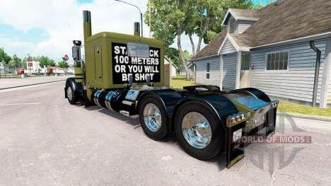WW2 Clean skin für den truck-Peterbilt 389 für American Truck Simulator