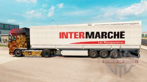Intermarche de la peau pour les remorques pour Euro Truck Simulator 2