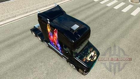Wolf Haut v2 für Scania T truck für Euro Truck Simulator 2