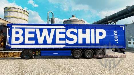Beweship Haut für Anhänger für Euro Truck Simulator 2