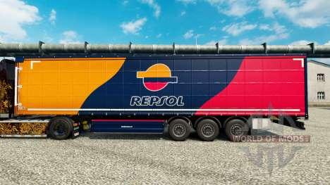 La peau Repsol pour les remorques pour Euro Truck Simulator 2