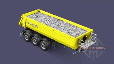 Semi-trailer tipper Schmitz Rosafio Transports für Euro Truck Simulator 2