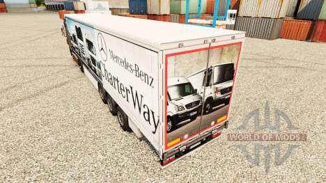 La peau Mercedes-Benz Charte Façon sur les remor pour Euro Truck Simulator 2