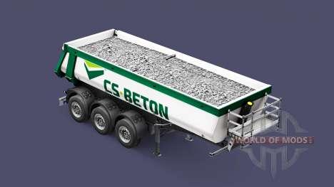 Semi-remorque benne Schmitz Cargobull CS-BÉTON pour Euro Truck Simulator 2
