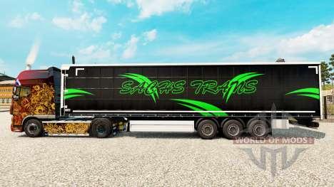 Haut Sachs Trans auf einen Vorhang semi-trailer für Euro Truck Simulator 2